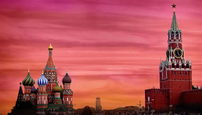 Một góc của quảng trường Đỏ ở nước Nga.