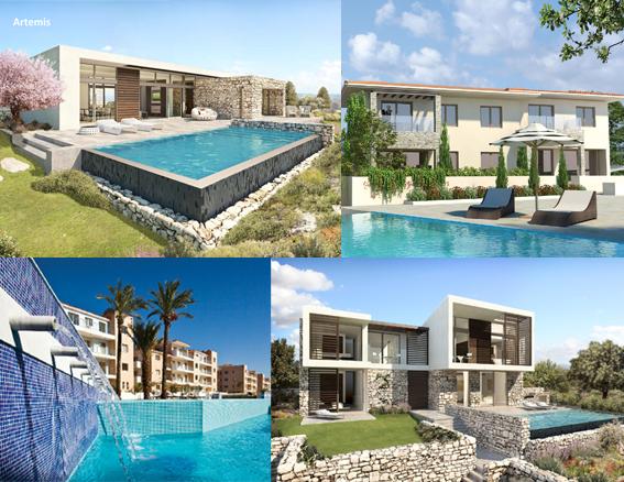 Một số bất động sản cao cấp ở đảo Síp (Cyprus) - Ảnh: Pafilia