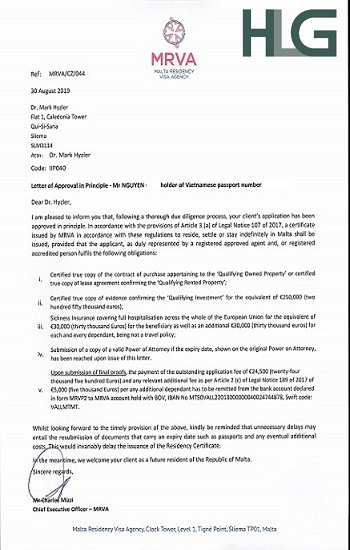 Malta-Approval-Letter Harvey-Law-Group