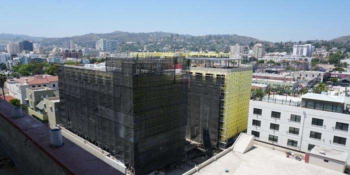Khách sạn Tommie nhìn từ tầng thượng của Khách sạn Thompson – Tháng 5 2020