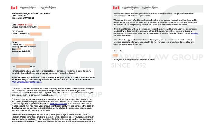 Khách hàng thành công chương trình Thị thực khởi nghiệp Canada của Harvey Law Group